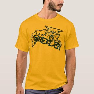 Amarelo desorganizado do veículo com rodas camiseta