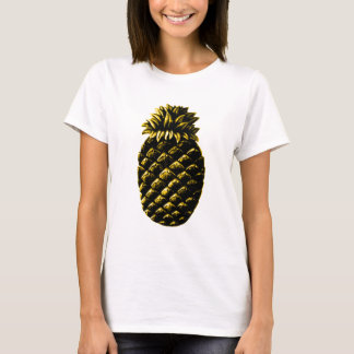 Amarelo do abacaxi da hospitalidade o GIF de Camiseta