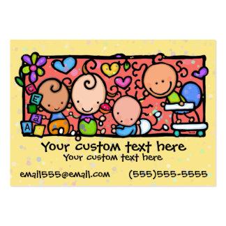 AMARELO do berçário da guarda das crianças dos Cartão De Visita Grande