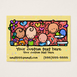 AMARELO do berçário da guarda das crianças dos Cartão De Visitas