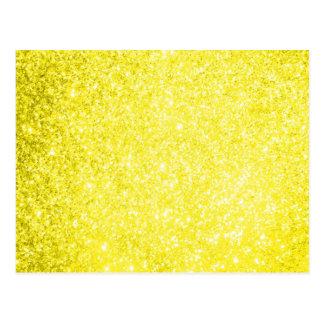 Amarelo do brilho cartao postal