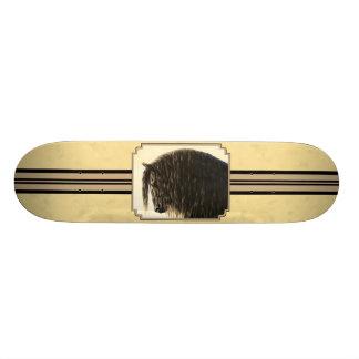 Amarelo do cavalo de esboço do frisão shape de skate 19,7cm