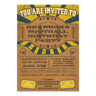 Amarelo do convite de aniversário do futebol do