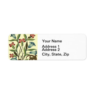 Amarelo do desenhista do teste padrão do papel de etiqueta endereço de retorno
