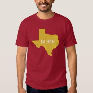 Amarelo do estado de origem de Texas T-shirts