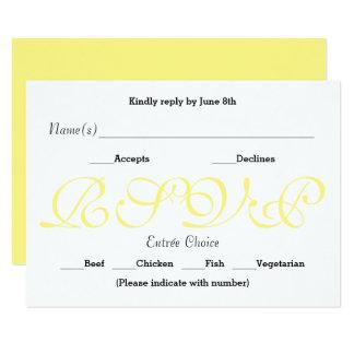 Amarelo do fundo - cartão da resposta da recepção
