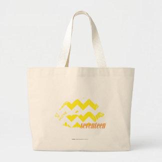 Amarelo do ziguezague bolsas