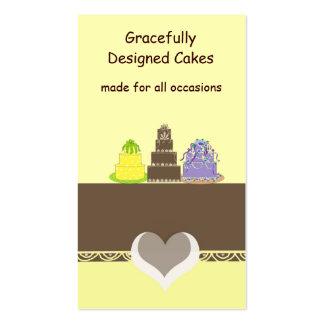 Amarelo e bolos do desenhista do chocolate cartão de visita