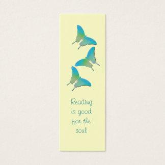 Amarelo e borboleta de turquesa - marcador de cartão de visitas mini