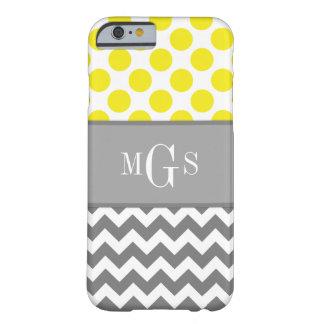 Amarelo e cinzento, Chevron, caso do iPhone 6 das Capa Barely There Para iPhone 6