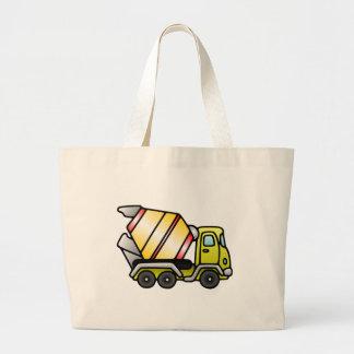 Amarelo e misturador de cimento bolsas de lona