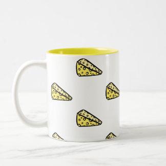 Amarelo engraçado bonito eu amo a caneca de café