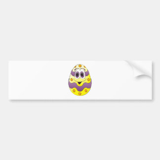 Amarelo engraçado do ovo da páscoa adesivo para carro