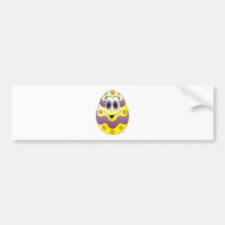 Amarelo engraçado do ovo da páscoa adesivo