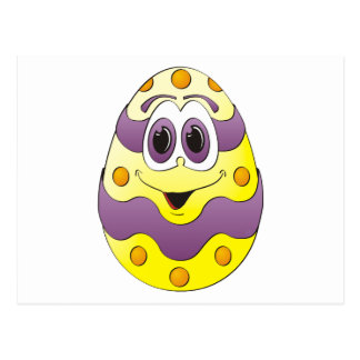Amarelo engraçado do ovo da páscoa cartão postal