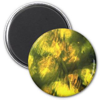 Amarelo esverdeado Mottled Imãs