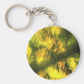Amarelo esverdeado Mottled Chaveiro
