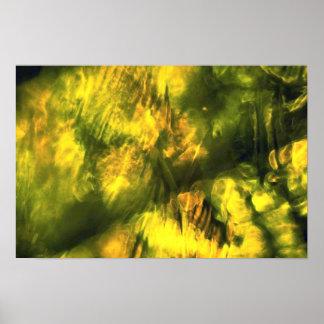 Amarelo esverdeado Mottled Pôsteres