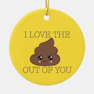 Amarelo eu amo o tombadilho fora de você ornamento