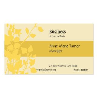 Amarelo floral relativo à promoção moderno da cartão de visita