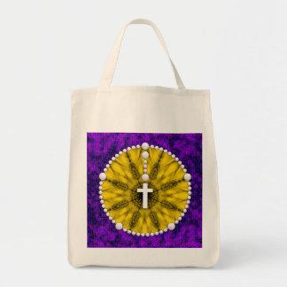 Amarelo ideal do coletor do rosário bolsas para compras