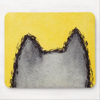 Amarelo Mousepad do gatinho do pop art