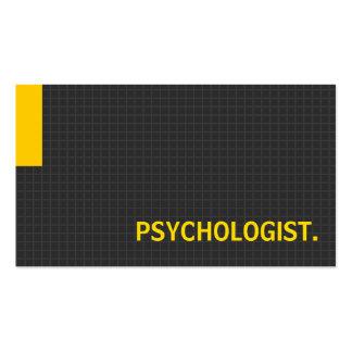 Amarelo múltiplo da finalidade do psicólogo cartão de visita