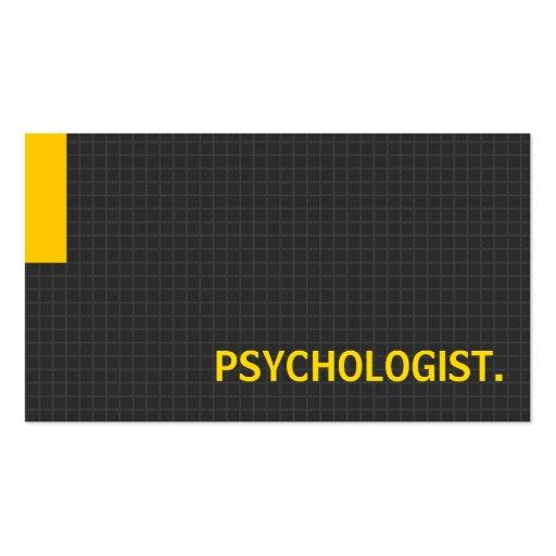 Amarelo múltiplo da finalidade do psicólogo cartões de visita
