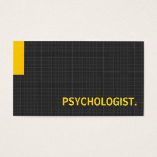 Amarelo múltiplo da finalidade do psicólogo cartão de visitas