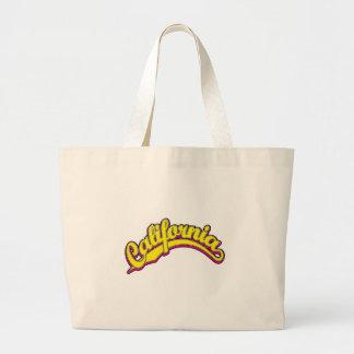 Amarelo na magenta bolsas para compras