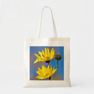 Amarelo no azul sacola tote budget