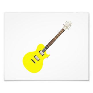 amarelo .png da guitarra elétrica impressão de foto