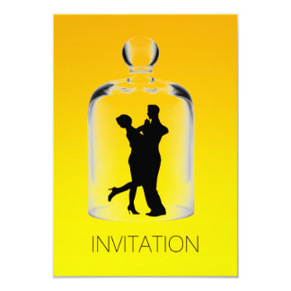 Amarelo retro Latin Ombre do partido do Flapper de Convite 8.89 X 12.7cm