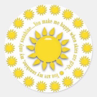 Amarelo você é minhas etiquetas redondas da luz do