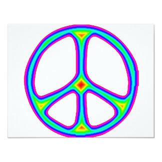 Amarre o amor do Hippie dos anos 60 do sinal de Convite 10.79 X 13.97cm