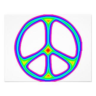 Amarre o amor do Hippie dos anos 60 do sinal de pa Convites