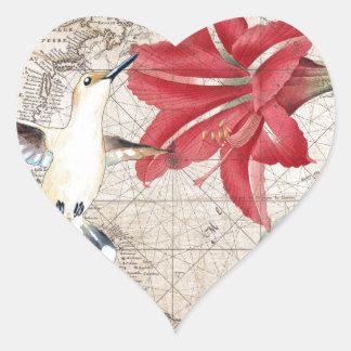 Amaryllis Mao Hummer Adesivo Coração