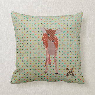 Amber Fawn & Golddust Butterfly Pokadot Mojo Pillo Pillow