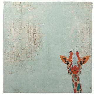Amber Peeking Giraffe Napkin