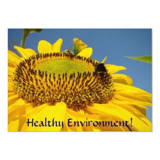 Ambiente saudável! Girassóis dos convites do Convite 12.7 X 17.78cm
