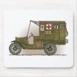 Ambulância das forças armadas do vintage mouse pad