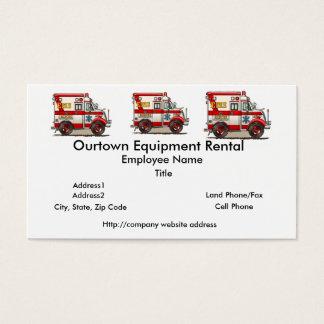 Ambulância do caminhão da caixa cartão de visitas