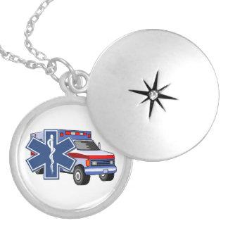 Ambulância do EMS Colar Medalhão