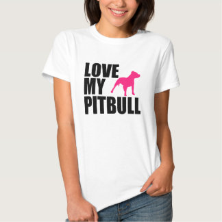 Ame a camisa das minhas mulheres de Pitbull Tshirts