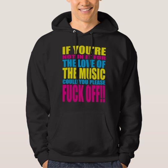 Ame a música moletom