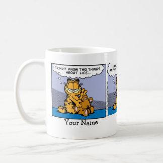 """""""Ame banda desenhada de Garfield do meu urso de Caneca De Café"""