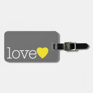Ame com um coração brilhante e enderece/telefone etiqueta de bagagem