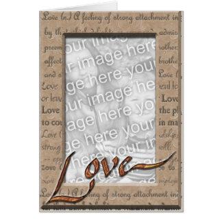 Ame e ame a foto cartão comemorativo