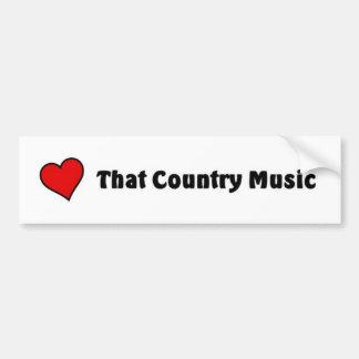 Ame essa música country adesivo para carro
