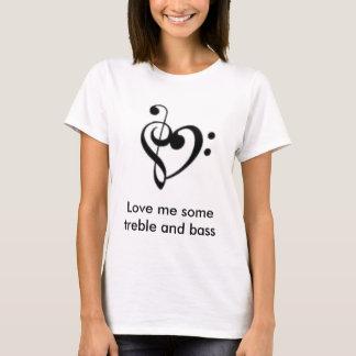 Ame-me alguns triplo e baixo camiseta